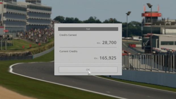Nach den Rennen gibt es Credits ...