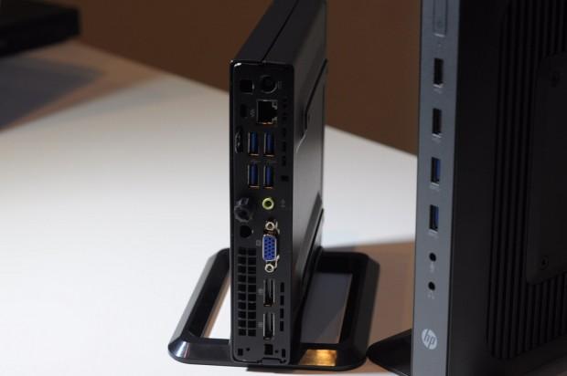 Die Rückseite des Desktop-Mini ist mit vielen Schnittstellen ausgestattet. (Foto: Andreas Sebayang/Golem.de)