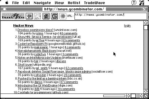Mac Plus mit Macweb 2.0 im Web (Bild:   Jeff Keacher)