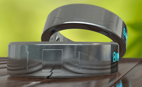 Smarty Ring: Smarter Ring mit Bluetooth und Minidisplay - Smarty Ring (Bild: Kickstarter)