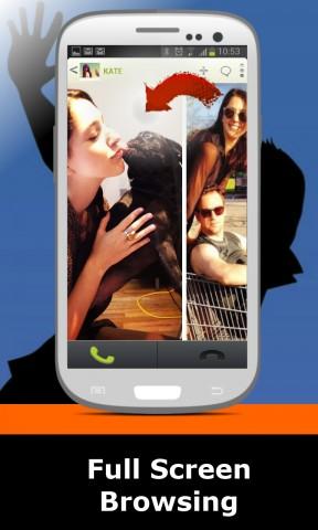 Talkside ersetzt den Standard-Anrufbildschirm und bietet zusätzliche Informationen zum Anrufer. (Bild: Twiize)