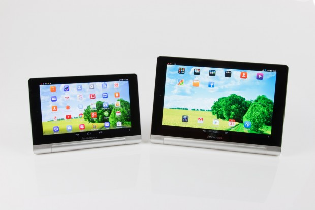 Das Yoga Tablet 8 und Yoga Tablet 10 von Lenovo (Bild: Tobias Költzsch/Golem.de)