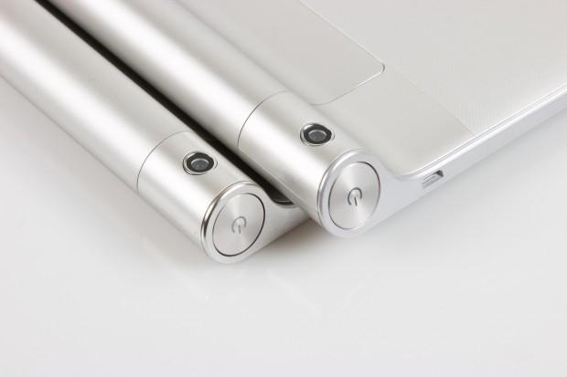 Der Akku ist in einem Zylinder untergebracht, hier finden sich bei den Geräten auch die Kameras. (Bild: Tobias Költzsch/Golem.de)