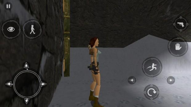 Die Onscreen-Tasten von Tomb Raider auf dem iPhone (Bild: Golem.de)