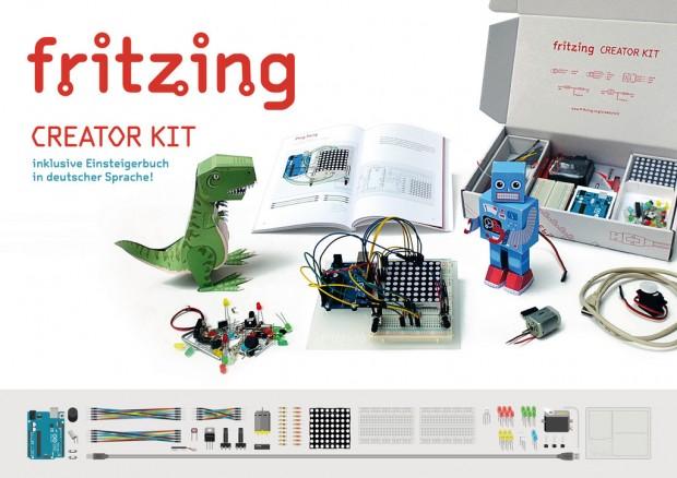 Die Außenhülle des Fritzing Creator Kit (Fotos: Fritzing)
