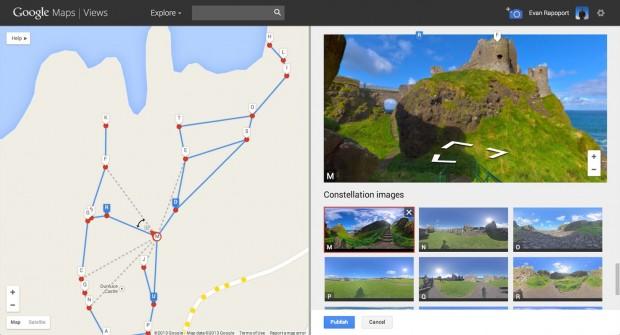Die Erstellung einer virtuellen Tour sei einfach, sagt Google. (Bild: Google)