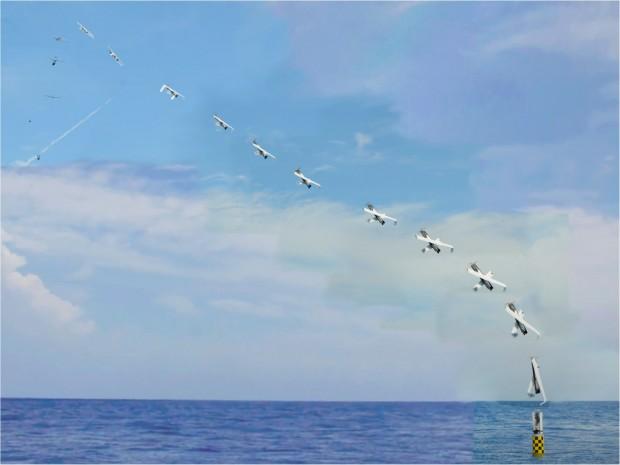 Abschuss des XFC UAS von einem U-Boot (Foto: Navsea-Autec)