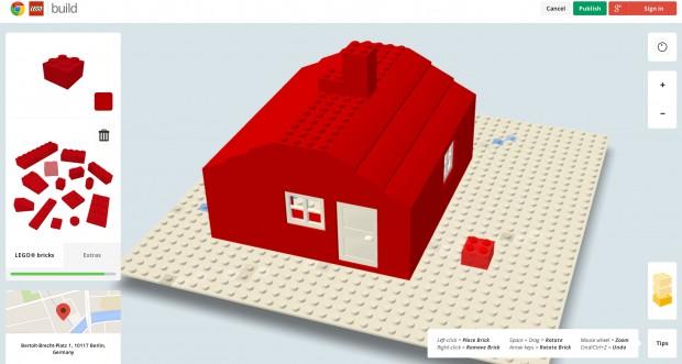 Build with Chrome - Legobauen im Browser (Screenshot: Golem.de)