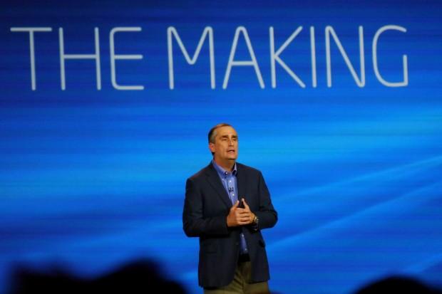 Intel-CEO Brian Krzanich eröffnet die CES 2014 mit seiner Keynote. (Bild: Marc Sauter/Golem.de)