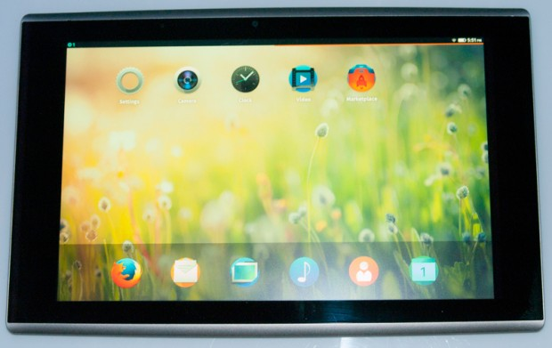 Auf den Infocus New Tab F1 läuft bereits eine erste Version von Firefox OS für Tablets. (Bild: Asa Dotzler/Mozilla)