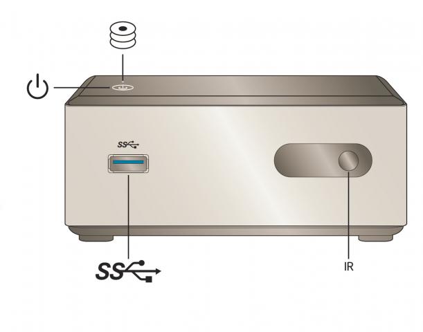 Das NUC Kit DN2820FYK von vorne (Bild: Intel)