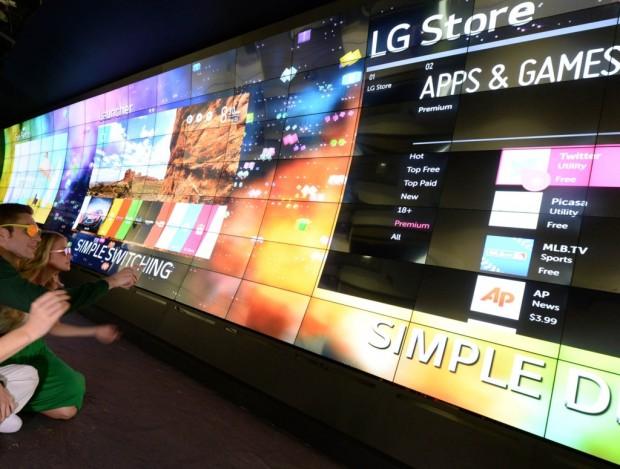 LG zeigt seinen Smart-TV mit WebOS. (Bild: LG)