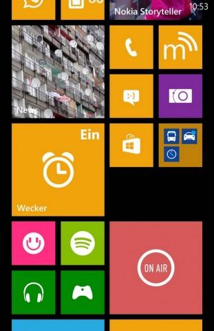 Mit App-Ordner können Nutzer jetzt Tiles gruppieren und als Ordner auf dem Startbildschirm anzeigen lassen. (Screenshot: Golem.de)