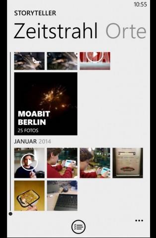 Mit Storyteller werden Fotos übersichtlich gruppiert. (Screenshot: Golem.de)