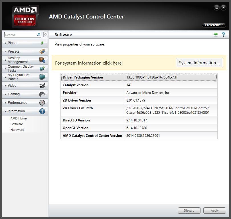 AMDs Mantle-API im Test: Der Prozessor-Katalysator - Der Catalyst 14.1 Beta gibt sich intern als 13.35 aus. (Screenshot: Marc Sauter/Golem.de)
