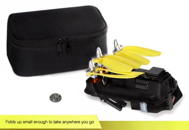 Zusammengeklappte Pocket-Drohne (Bild: Kickstarter)