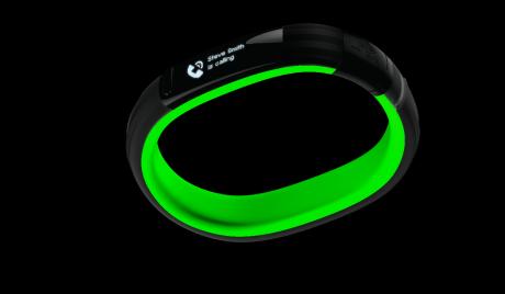 Razer Nabu: Smartes Armband mit zwei Bildschirmen - Unteres Display des Razer Nabu (Bild: Razer)