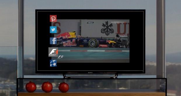 Der HDMI-Dongle Inair von Seespace legt kontextbasierte Informationen über das aktuelle Fernsehbild. (Bild: Seespace)