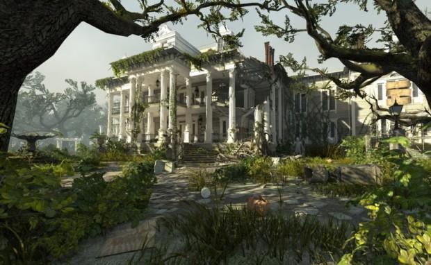 """Die Villa des Plantation Levels aus der """"Swamp Fever""""-Kampagne von Left 4 Dead 2 mit neuer Engine (Bild: CBOAT)"""