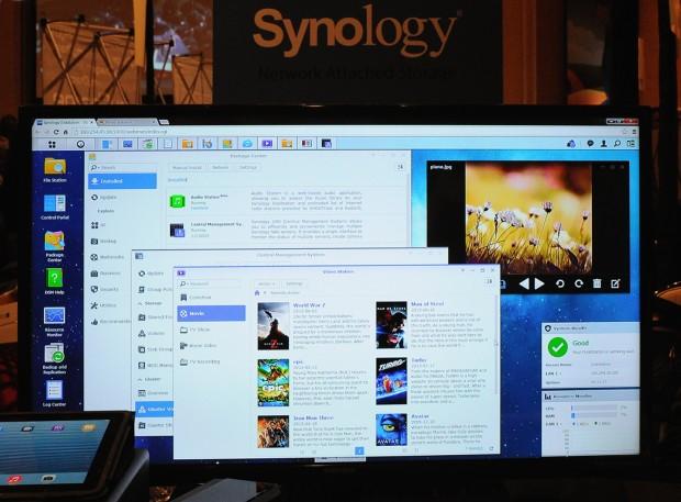 Apps wie die Fotos oben rechts laufen nun direkt im DSM. (Foto: Nico Ernst, Golem.de)