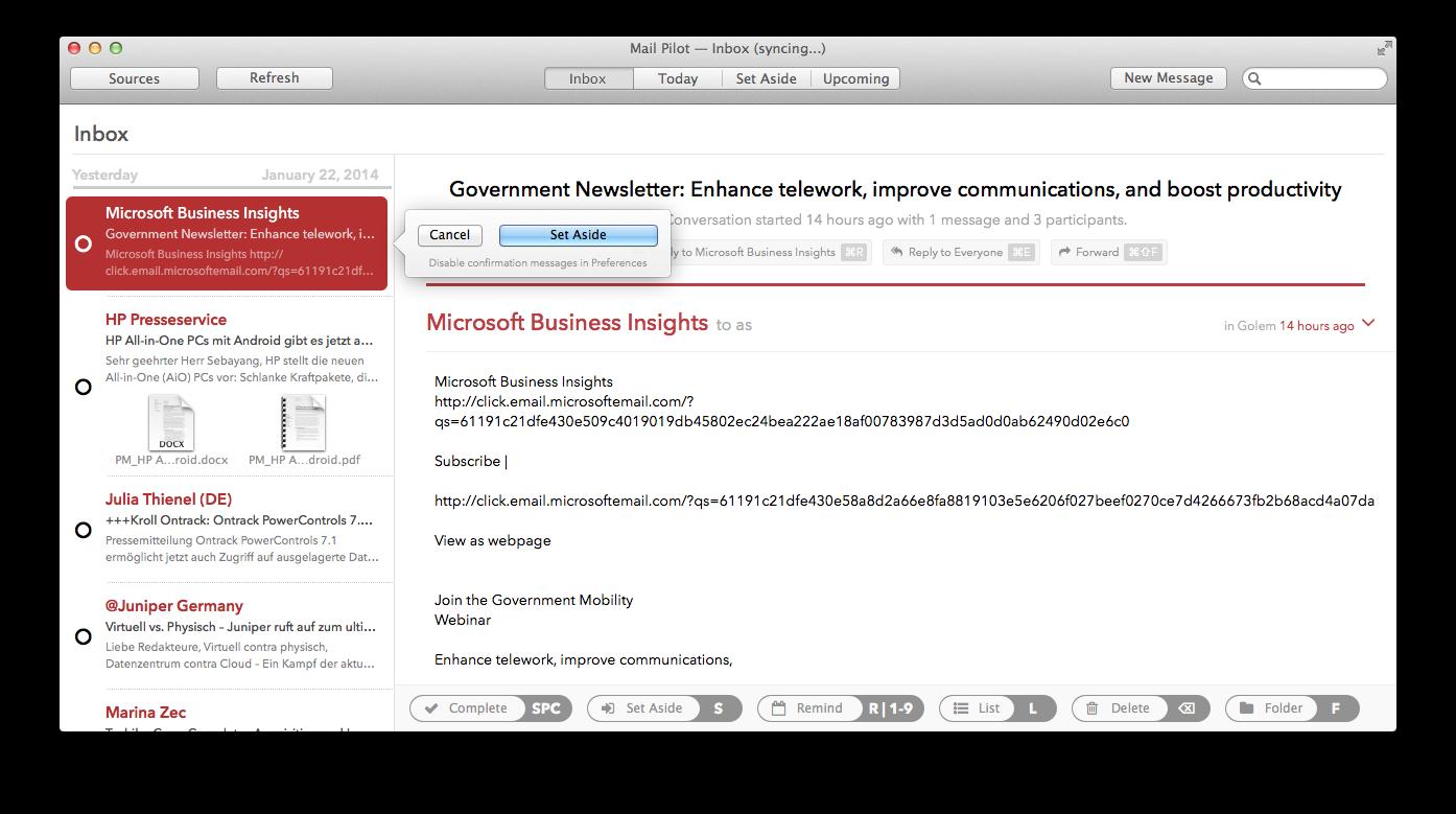 Mail Pilot im Kurztest: Ein sehr spezieller, schlechter E-Mail-Client -