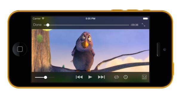 VLC 2.2 für iOS auf dem iPhone 5C (Bild: Videolan.org)