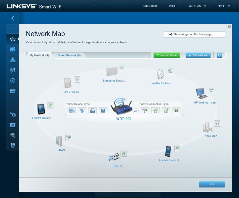WRT1900AC: Router-Klassiker WRT54G von Linksys mit moderner Technik - Network-Maps-Software des WRT1900AC