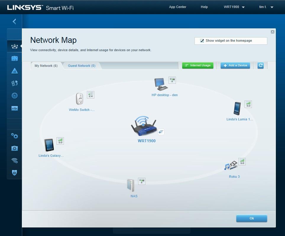WRT1900AC: Router-Klassiker WRT54G von Linksys mit moderner Technik - Network-Maps-Software des WRT1900AC
