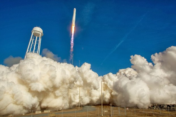 Liftoff: Die Cygnus startet am 9. Januar 2014. (Foto: Bill Ingalls/Nasa)