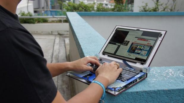 Der Open-Source-Laptop Novena (Bild: Andrew Huang)