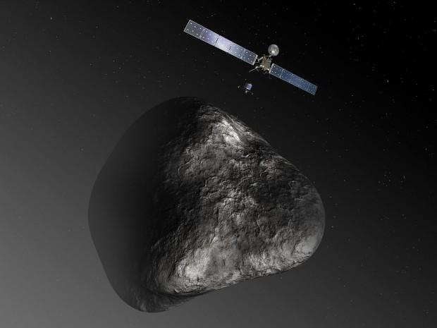 Im November soll der Lander Philae von Rosetta auf dem Kometen Tschurjumow-Gerasimenko abgesetzt werden. (Grafik: C. Carreau/ATG Medialab/Esa)
