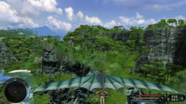 Die 64-Bit-Version von Far Cry mit Exclusive Content Update, das Distanzdarstellung und Texturen verbessert (Screenshot: Marc Sauter/Golem.de)