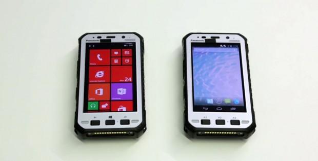Das neue 5-Zoll-Toughpad von Panasonic wird wahlweise mit Android oder Windows Embedded 8 Handheld erhältlich sein. (Bild: Fabian Hamacher/Golem.de)