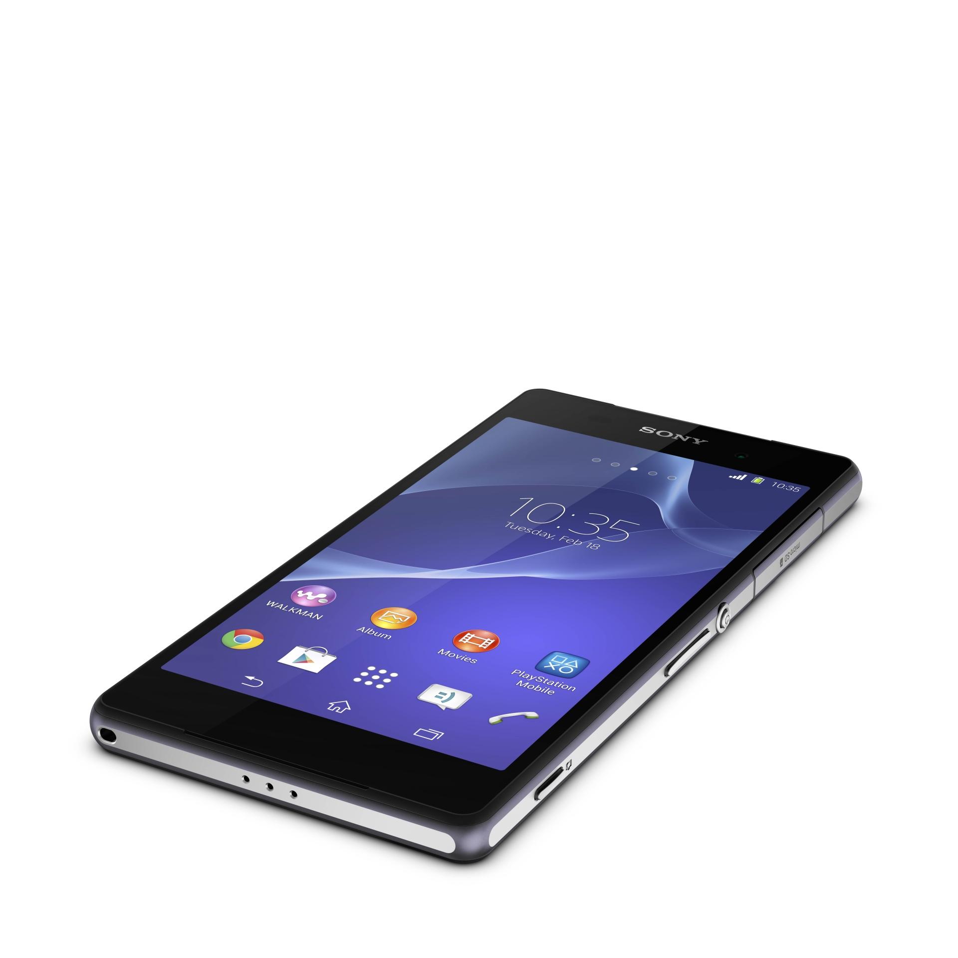 Hands on Sony Xperia Z2: Neuer, schneller Prozessor und 4K-Videofunktion - Das neue Xperia Z2 von Sony (Bild: Sony)