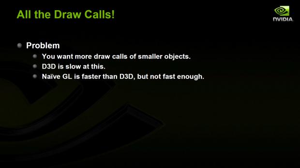 Präsentation zur Steigerung der Draw Calls unter OpenGL (Bild: Nvidia)