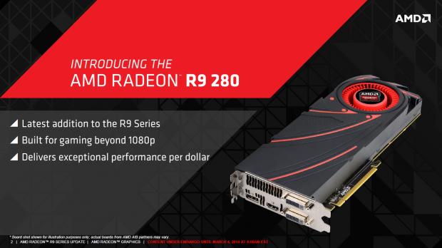 Präsentation zur Radeon R9 280 (Bild: AMD)