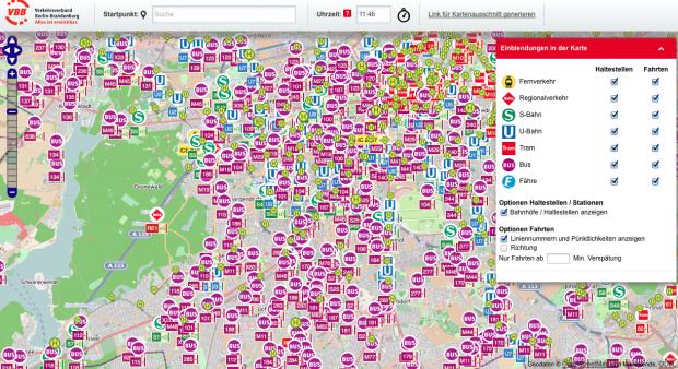 Karta Berlin Bvg.Vbb Livekarte Busse Und Zuge Auf Der Openstreetmap Karte Verfolgen
