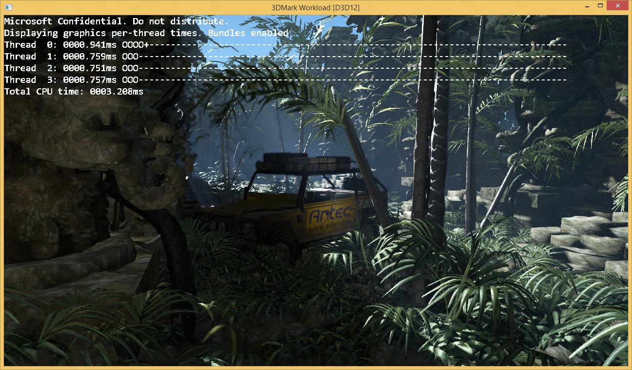 DirectX-12 im Detail: Kampf dem Overhead - Ergebnisse des 3DMark unter DirectX-12 (Bild: Microsoft)