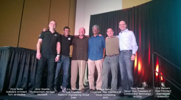 Firmenvertreter der DirectX-12-Präsentation auf der GDC 2014 (Foto: Microsoft)