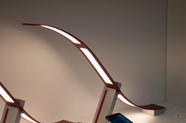 Die OLED-Lampe arbeitet mit... (Foto: Andreas Sebayang/Golem.de)