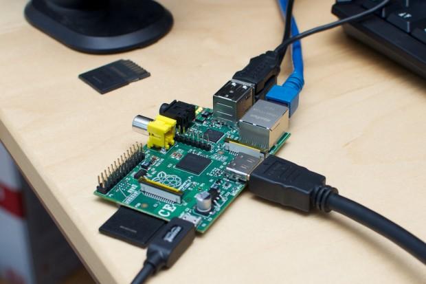 Das Raspberry Pi ohne Gehäuse (Bild: Golem.de)