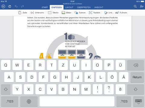 Word für das iPad (Bild: Microsoft)