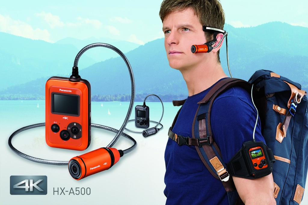 Panasonic HX-A 500: 4K-Actionkamera am Ohr - Panasonic HX-A-500 (Bild: Panasonic)
