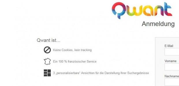 """""""Keine Cookies, kein Tracking"""" verspricht Qwant auf seinen Seiten. (Bild: qwant.com)"""