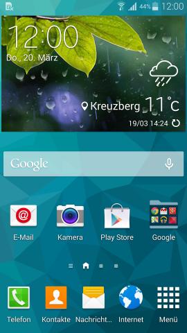 Samsungs Touchwiz-Oberfläche unterscheidet sich optisch kaum von der des Galaxy S4. (Screenshot: Golem.de)
