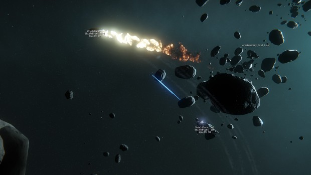 Das Dogfight-Modul von Star Citizen im Debug-Modus. (Bilder: Cloud Imperium Games)