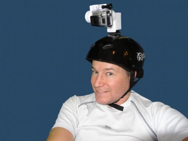 Stubilizer auf dem Helm (Bild: Kickstarter)