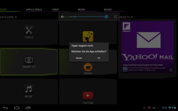 Der Android-Launcher stürzt zu häufig ab. (Screenshot: Golem.de)