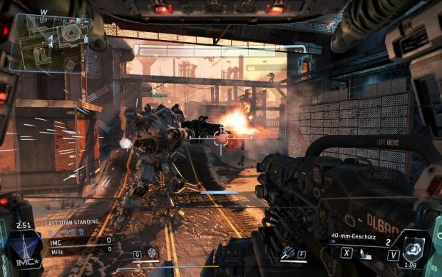 Titanisches Duell in einem Wüstenlevel (Screenshot: Golem.de)