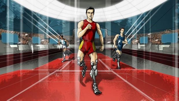 Cybathlon - das Turnier für Cyborgathleten - besteht aus sechs Wettkämpfen: Träger von bionischen Beinprothesen... (Bild: D'Arc. Studio Associates Architects)